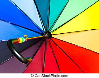 ombrello, aperto, variopinto