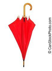 ombrello bianco, rosso