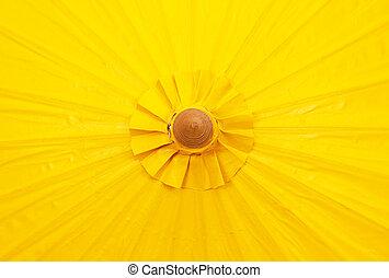 ombrello, fatto mano, giallo