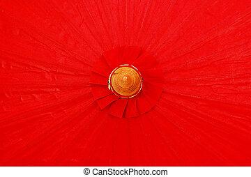 ombrello, fatto mano, rosso