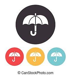 ombrello, icona