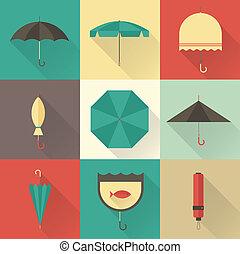 ombrello, icone
