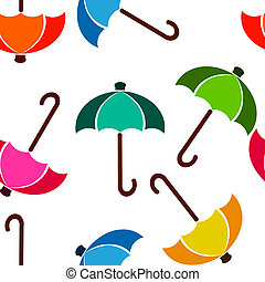 ombrello, luminoso, seamless, colori, fondo, bianco