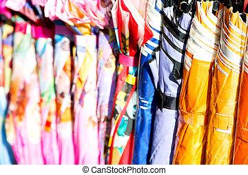 ombrello, mercato, struttura
