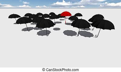 ombrello, rosso