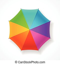 ombrello, vettore, rainbow.