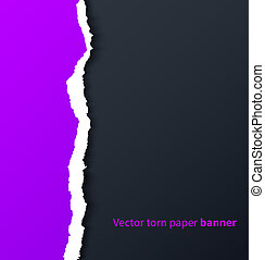 ombres, déchiré, pourpre, goutte, sombre, papier, fond