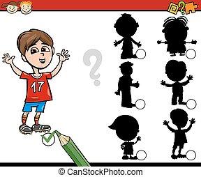 ombres, jeu, education, dessin animé