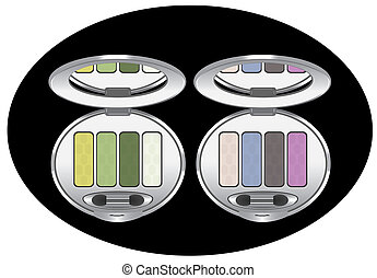 ombres, oeil, multicolore