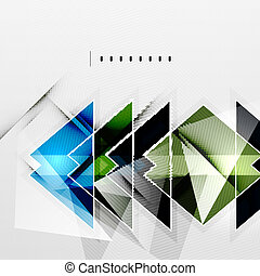 ombres, résumé, -, technologie, fond, carrés