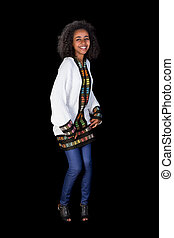 ombro, dança, ethiopian