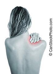 ombro, doloroso