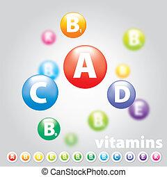 ombyte, av, vitamins