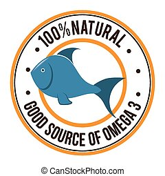 Omega 3 design, vector illustration. - Omega 3 design over...