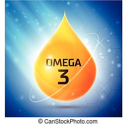 Omega 3 icon, excellent vector illustration, EPS 10