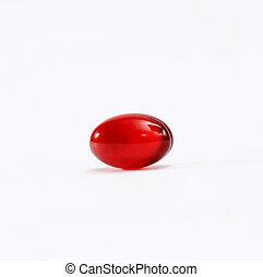 omega 3, torebki, krill, czerwony