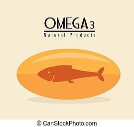 Omega design, vector illustration. - Omega design over beige...