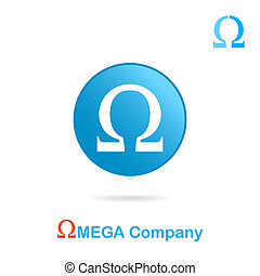 Omega letter logo concept
