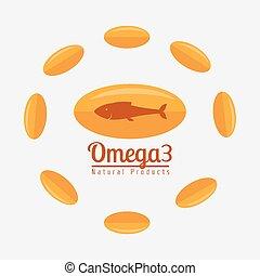 Omega oil design. - Omega design over white background,...