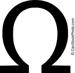Omega sign