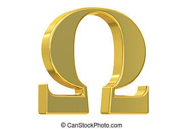 Omega symbol, 3D rendering