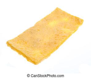 omelet on white background