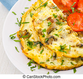 Omelet with mushrooms