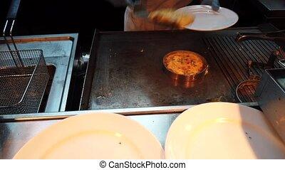 omelette, restaurant, fait, cuisine