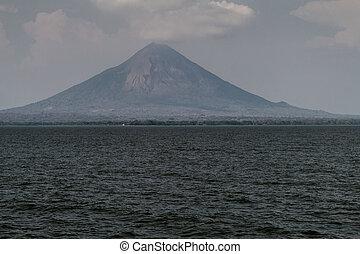 Ometepe island in Nicaragua lake. Volcano Concepcio