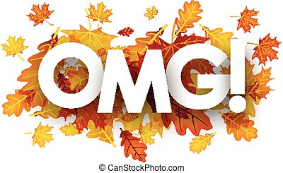 Omg autumn banner with leaves.