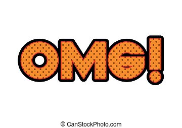 omg comic words isolated icon vector illustration design