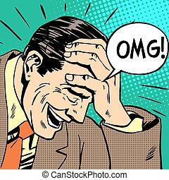 omg man - OMG man reaction emotions misunderstanding...