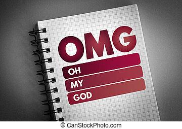 OMG - Oh My God acronym