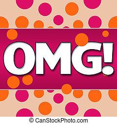 OMG Pink Orange Dots