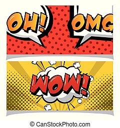 Comic text phrase pop art oh no  Oh no lettering  comics