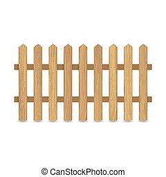 omheining, van, houten raad
