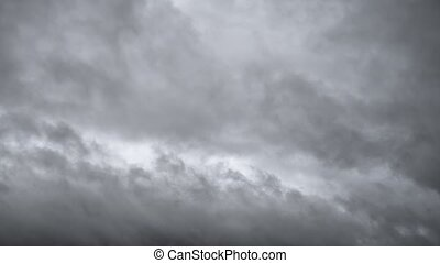 Ominous Gray Clouds Drifting in the Sky - Thick layer of ...