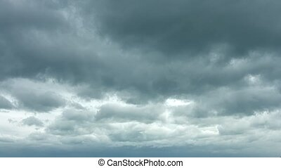 Ominous Gray Clouds Drifting in Timelapse. Video 4k - ...
