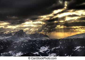 Ominous mountains - Dark and ominous sunset in the mountains...