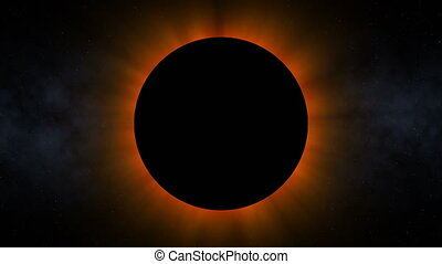Ominous Solar Eclipse (60fps) - A solar eclipse causing the...