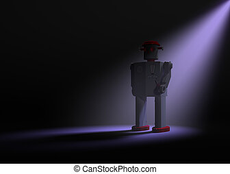 Ominous Toy Robot Emerges From The Shadows