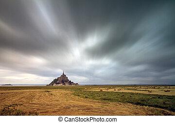 Ominous weather at Le Mont Saint-Michel