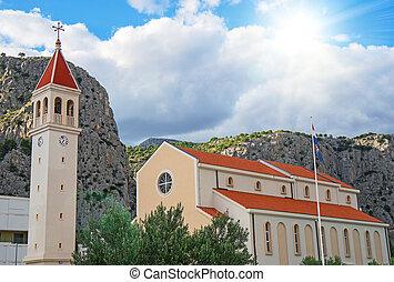 omis, str., croatia., petra, kirche