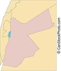 omliggend, jordanië, landen