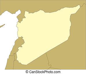 omliggend, syrië, landen
