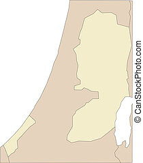 omliggend, west bank, gaza, landen