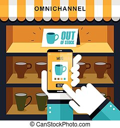 omni-channel experience concept
