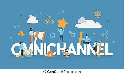 Omnichannel concept illustration