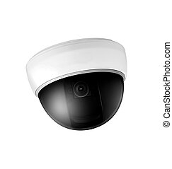 Omnipresent security camera video surveillance globe.