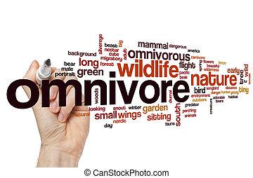 Omnivore word cloud concept